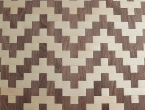 woven maple and walnut veneer
